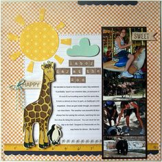 Zoo American Crafts paper scrapbook layout
