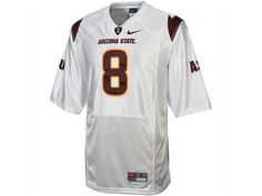 "Nike ""#8"" NCAA Twill Football Jersey! #ASUJerseys #SunDevilAthletics"