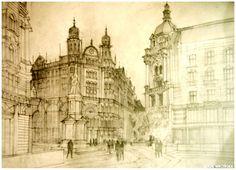 Architectural Illustrations by Maja Wronska