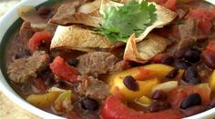Black Bean & Steak Fajita Soup