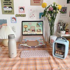 Study Room Decor, Room Ideas Bedroom, Bedroom Decor, Cute Room Ideas, Cute Room Decor, Pastel Room, Kawaii Room, Minimalist Room, Aesthetic Room Decor