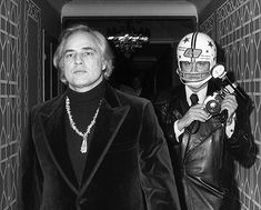 Working on my memoir...feeling a bit nostalgic...today would have been Brando's 94th birthday. Here's the shot... taken November 26 1974...at the Waldorf Hotel in NYC...I had to literally push photographer @PaulSchmulbach #RIP in front of #Brando and I... to get this shot. #memories #nostalgia #blackandwhite #rongalellaarchive