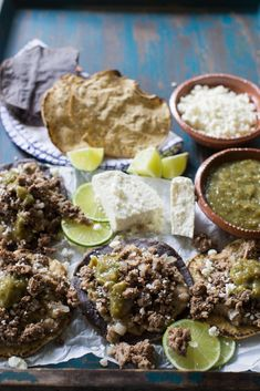 Hearty ground beef spiced with garlic, chili powder, cumin then finished off with a hint of freshness from lime juice are the ultimate weeknight topping for tostadas. @beeflovingtx #ad #tostadas #tostadanight #groundbeef #dinner #partyrecipes | sweetlifebake.com @sweetlifebake