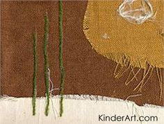 Fabric Assemblage/Collage Lesson Plan: Sculpture Activities and Lessons for Children and Kids: KinderArt ®