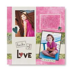 """Locks of Love"" Nancy O'Dell Love Addition #Scrapbook Layout from Creative Memories    http://www.creativememories.com"