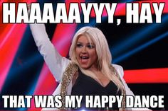 Get your happy dance ready! #TeamXtina #TheVoice