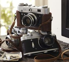 "I love these cameras from Pottery Barn. They call them ""found cameras"", lovely vintage collectibles. They sell for $149 each."