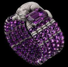 Pulsera Cartier de diamantes y amatistas