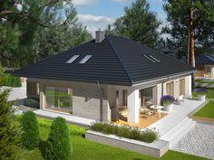 DOM.PL™ - Projekt domu AC Marcel IV G2 CE - DOM AF8-29 - gotowy koszt budowy Marcel, Gazebo, Outdoor Decor, Santa, Design, Home Decor, African Fashion, Wood, Google
