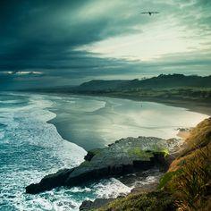Muriwai, Auckland, New Zealand Ocean (by ►CubaGallery)