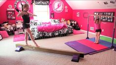 Dream room: tumbl trak gymnastics room with home equipment