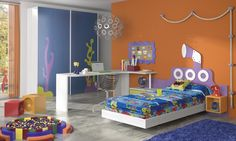Habitación infantil temática dibujos animados Bob2