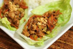 Crunch times TWO with Cashew Chicken Lettuce Wraps.