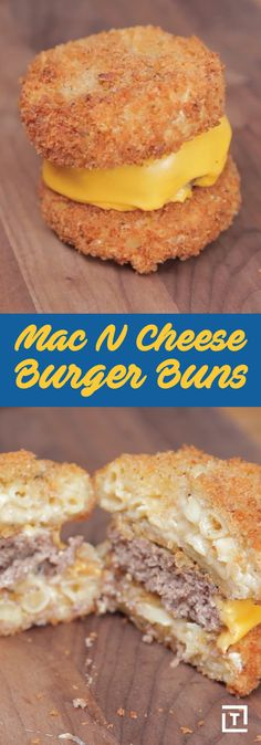People have been adding mac & cheese to burgers for awhile now. It makes sense -- all that creamy cheese pairs so well with a succulent, impeccably cooked burger -- but this recipe from Food Steez tak (Diy Cheese Bread) Mac And Cheese Burger, Mac And Cheese Bites, Mac Cheese, Cheese Buns, Cheese Bread, Cheese Recipes, Cooking Recipes, How To Cook Burgers, Cheese Pairings