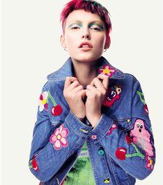Related image Samantha Cameron, Meadham Kirchhoff, Denim Patchwork, Alternative Fashion, Designer, Luxury Fashion, Size 2, Applique, Slim