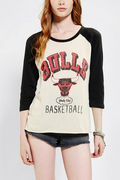 Junk Food Chicago Bulls Raglan Tee - I'm not much for basketball, but if I was, this would be my team! :)