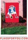 """Pat"" the Patriot Garden Window Flag x New England Patriots Flag, Garden Windows, House Flags, Garden Flags, Baseball Cards, Decor, Decoration, Decorating, Deco"