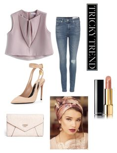 """""""Untitled #238"""" by skyfashionista on Polyvore featuring Chicwish, rag & bone, Tom Ford, GUESS, Shablula, Chanel, TrickyTrend and overalls"""