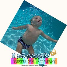 Lil' Side Snapper swim diaper by TurtleSoupCompany on Etsy Soup Company, Turtle Soup, Coordinating Colors, Snug Fit, Printing On Fabric, Bathing Suits, Boy Or Girl, Swimsuits, Swimming