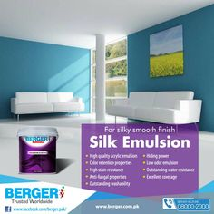 #berger #bergerpaintpakistan #bergerpaint #color #paint #decor #SilkEmulsion