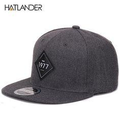 HATLANDER Vintage 1977 cool flat bill baseball cap women mens gorras  planas snapbacks trucker hat outdoor hip-hop snapback caps cd75fae8345