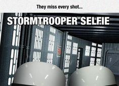 Stormtroopers miss every shot. hahahaha