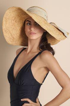 Flora Bella Simone Hat - Raffia Wide Brim Hat, Hats & Gloves, Fashion Accessories | Soft Surroundings