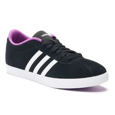 4d332a0489a These women s adidas Courtset shoes serve up tennis-inspired style with a  clean, modern look.