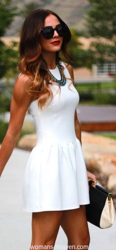 dress, dress image, fashion, image, moda, photo, picture, white dress, style http://www.womans-heaven.com/white-dress-image-52/