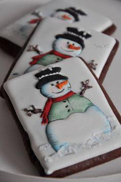 Snowman Cake, Snowman Cookies, Christmas Sugar Cookies, Christmas Cupcakes, Christmas Sweets, Christmas Goodies, Holiday Cookies, Christmas Baking, Snowmen
