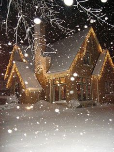 This would be a cute little crystal Christmas cottage