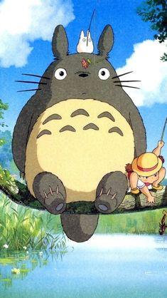 Studio ghibli,my neighbor totoro,hayao miyazaki Art Anime, Anime Kunst, Anime Artwork, Studio Ghibli Films, Art Studio Ghibli, Hayao Miyazaki, Animes Wallpapers, Cute Wallpapers, Totoro Movie