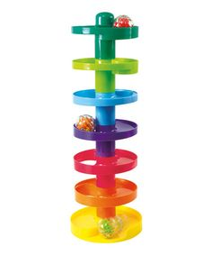Loving this Rainbow Ball Drop Toy Set on #zulily! #zulilyfinds