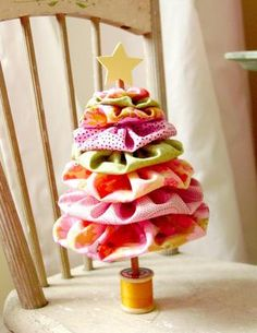 Yo-Yo tree - how cute...diy