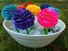 cool DIY Colorful Duct Tape Flower Pens | 101 Duct Tape Crafts