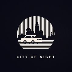City of night #cityofnight #simplicity #minimalism #graphicdesign #pictogram #graphic #illustration #meanimize #flatdesign #vector #artwork #logo #logoinspiration #adobe_lessismore #behance