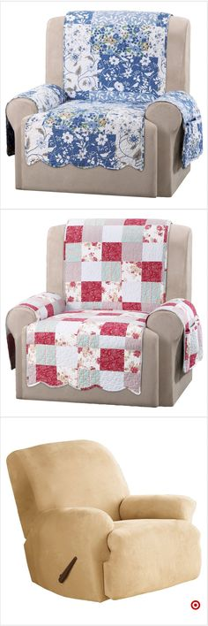 Make one for oversized chair Recliner Cover, Recliner Slipcover, Slipcovers, Quilting Projects, Sewing Projects, Creation Couture, Couch Covers, Furniture Covers, Quilt Blocks