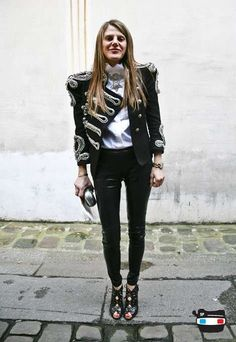 TRANSITIONAL TROUSERS: the skinny black trouser is a must have! love this version in leather