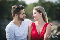 Halibut Point State Park Engagement Session Picture