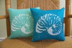 Shell pillow Sea life pillow Beach pillow by KelleysCollections