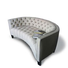 I REALLY. REALLY want this couch... It's like a cuter spin off of my grandma's round couch!!