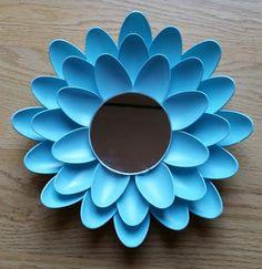 Small Plastic Spoon Mirror by DianasDecor on Etsy
