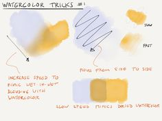 Some watercolor tricks, and a detailed comparison...