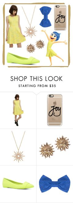 """Joy - Inside Out"" by lottie554 ❤ liked on Polyvore featuring Disney, Casetify, Christina Debs, Versace, ALDO, Missoni, women's clothing, women, female and woman"