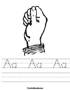 Prime Composite Worksheet Pdf Sign Language Practice  Spelling Worksheets Sign Language And  Job Analysis Worksheet Word with British Colonisation Of Australia Worksheets Sign Language Letter A Worksheet From Twistynoodlecom Evaluate Algebraic Expressions Worksheet Word
