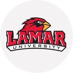 Stoneware Drink Coasters, Lamar University, Multicolor
