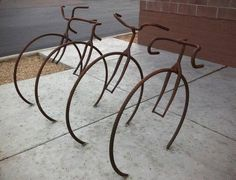 A nostalgic bikerack.