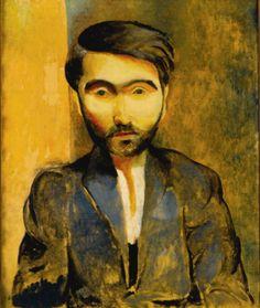 Moïse Kisling - Portrait of Miezystaw Zborowski (1919)....vu à une expo sur Modigliani....envoutant!