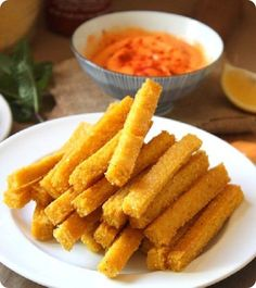 Healthy Baked Polenta Fries: http://chocolatecoveredkatie.com