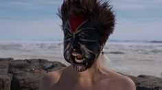 Laakkuluk Williamson Bathory presents a master class on Greenlandic mask painting. Mask Painting, Mask Making, Superhero, Masks, Face, Master Class, The Face, Faces, Facial
